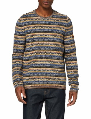 Camel Active Men's Crew Neck Tonal Jumper
