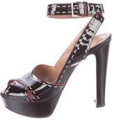 Alaia Patent Leather Platform Sandals