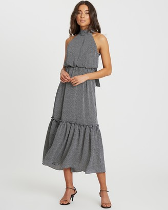 Calli Crysta Halter-Neck Dress