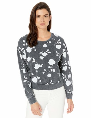 Alternative Women's The deb Printed Burnout French Terry Cropped Pullover
