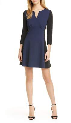Kate Spade Colorblock Long Sleeve Ponte Dress