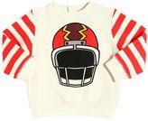 Stella McCartney Helmet & Stripes Cotton Sweatshirt