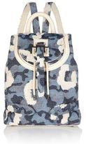 Meli-Melo Backpack Mini in Cheetah Ice Denim
