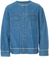 GUILD PRIME round neck denim jacket