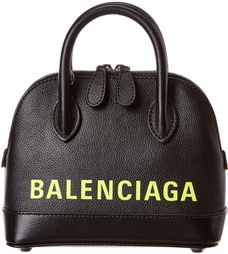 Balenciaga Ville Xxs Leather Top Handle Tote