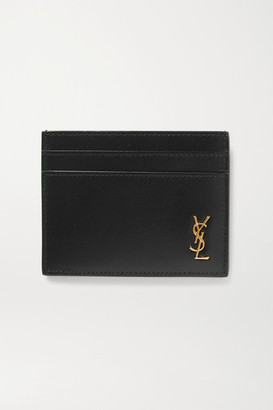 Saint Laurent Monogramme Leather Cardholder - Black