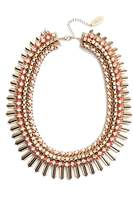 Adia Kibur Crystal & Suede Statement Necklace