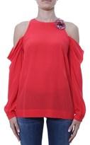 Pinko Women's Red Silk Top.