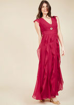 ModCloth Exquisite Epilogue Maxi Dress in Magenta in S