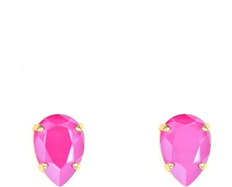 Rosaspina Firenze Peony Pink Drop Stud Earrings