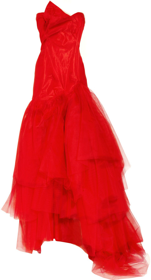 Vivienne Westwood Paper Bag tiered silk-taffeta and tulle gown