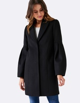 Forever New Lily Puff Sleeve Coat
