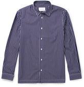 Sandro Striped Cotton-poplin Shirt - Navy