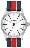 Nixon Women's 'Sentry' Stripe Canvas Strap Watch, 38Mm