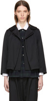 Comme des Garcons Black Rounded Collar Jacket