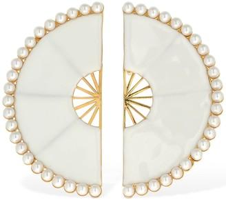 ROWEN ROSE Maxi Fan Clip-on Earrings