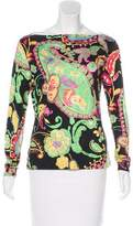 Ralph Lauren Black Label Silk Printed Top