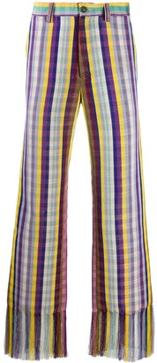 Kenneth Ize Gingham Print Trousers