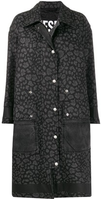 Diesel Animal Print Coat