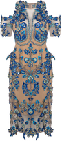 Thurley Iris Embroidered Illusion Dress