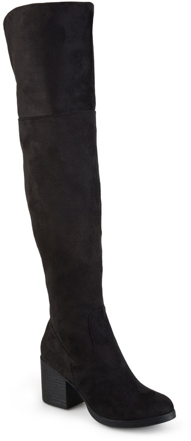3c8fcbb125540 Journee Collection Black Over The Knee Women s Boots - ShopStyle