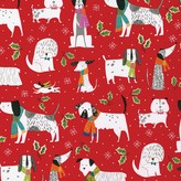 Caspari Christmas Canines Wrapping Paper