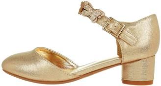 Monsoon Girls Savannah Butterfly Two Part Shoe - Gold