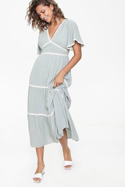 Forever 21 Crochet-Trim Maxi Dress