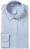 Daniel Cremieux Non-Iron Fitted Classic-Fit Button-Down Collar Checked Dress Shirt