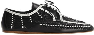 Prada Contrasting Braided Lace-Up Shoes
