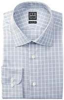 Ike Behar Long Sleeve Regular Fit Plaid Dress Shirt