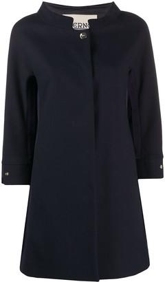 Herno funnel-neck A-line coat