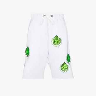 Natasha Zinko Embroidered Patch Track Shorts