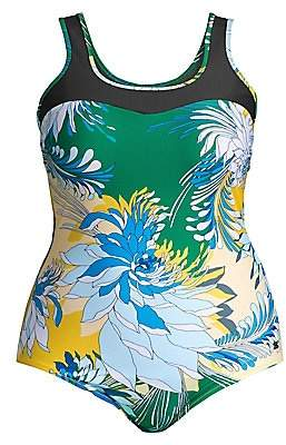 Marina Rinaldi Marina Rinaldi, Plus Size Women's Sport 2 Sagoma Floral One-Piece Swimsuit