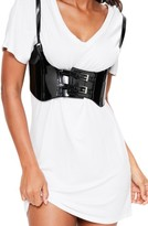 Missguided Women's Faux Patent Harness Belt
