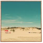 DENY Designs Red Beach Umbrella by Happee Monkee (Framed)