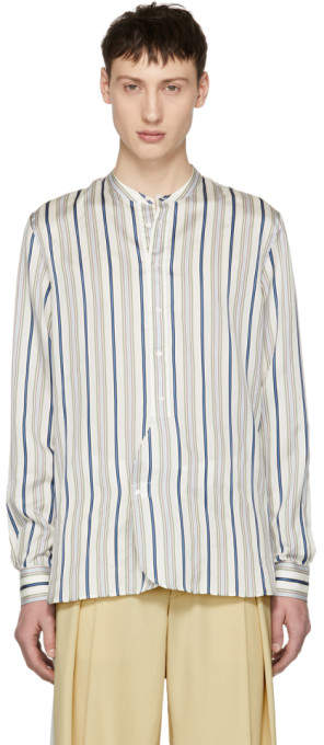 Burberry Multicolor Silk Stripe Shirt