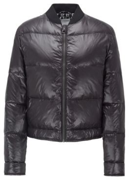 HUGO BOSS Water-repellent bomber jacket with down filling