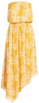 Ramy Brook Lainey Leopard Print Strapless Asymmetric Dress