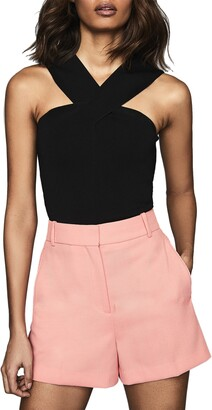 Reiss Tegan Halter V-Neck Top