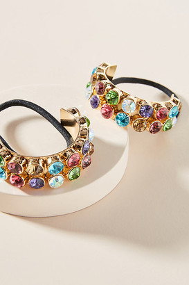 Anthropologie Rainbow Cuff Ponytail Holder Set By in Gold