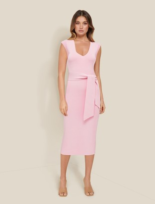 Forever New Carter Belted Knit Midi Dress - Formica Pink - 10