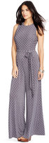 Lauren Ralph Lauren Polka-Dot-Print Jersey Jumpsuit