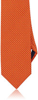 Barneys New York MEN'S CIRCLE-PATTERN SILK SATIN NECKTIE-ORANGE, RED