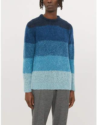 Richard James Striped wool-blend jumper