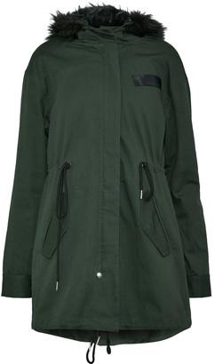 W118 By Walter Baker Jane Faux Fur-trimmed Cotton-twill Coat