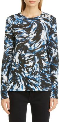 Proenza Schouler Print Long Sleeve T-Shirt
