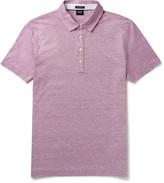 Hugo Boss - Mélange Cotton And Linen-blend Jersey Polo Shirt