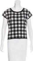 Derek Lam Knit Short-Sleeve Top
