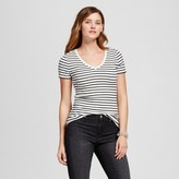 Merona Women's Striped Ultimate V Tee